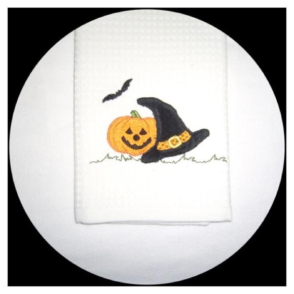 🎃Jack-O-Lantern Embellished Witch Hat & Bat